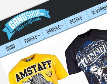 GangShop – online shop s oblečením