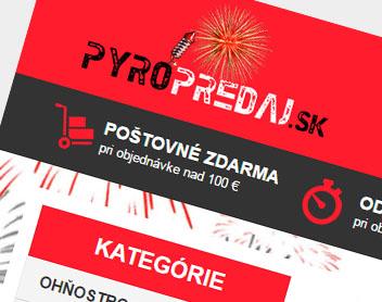 Pyropredaj – zábavná pyrotechnika